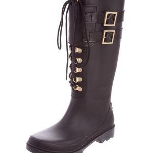 Tory Burch Lace-up Rain Boots
